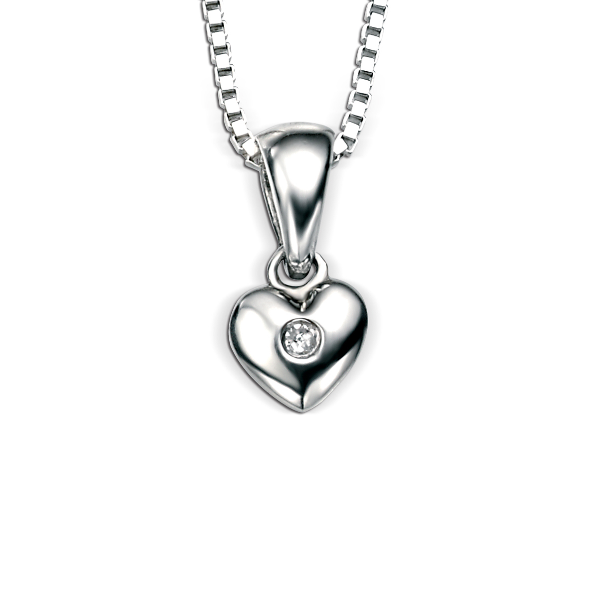 Girls heart pendant necklace silver 925 crocketts home shop jewellery necklaces girls heart pendant necklace silver 925 aloadofball Choice Image