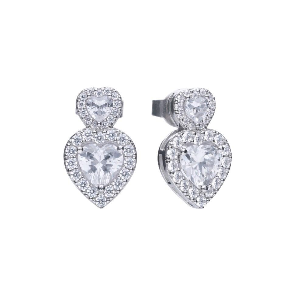 diamonfire-silver-white-zirconia-double-heart-vintage-style-stud-earrings-p20971-58793_image