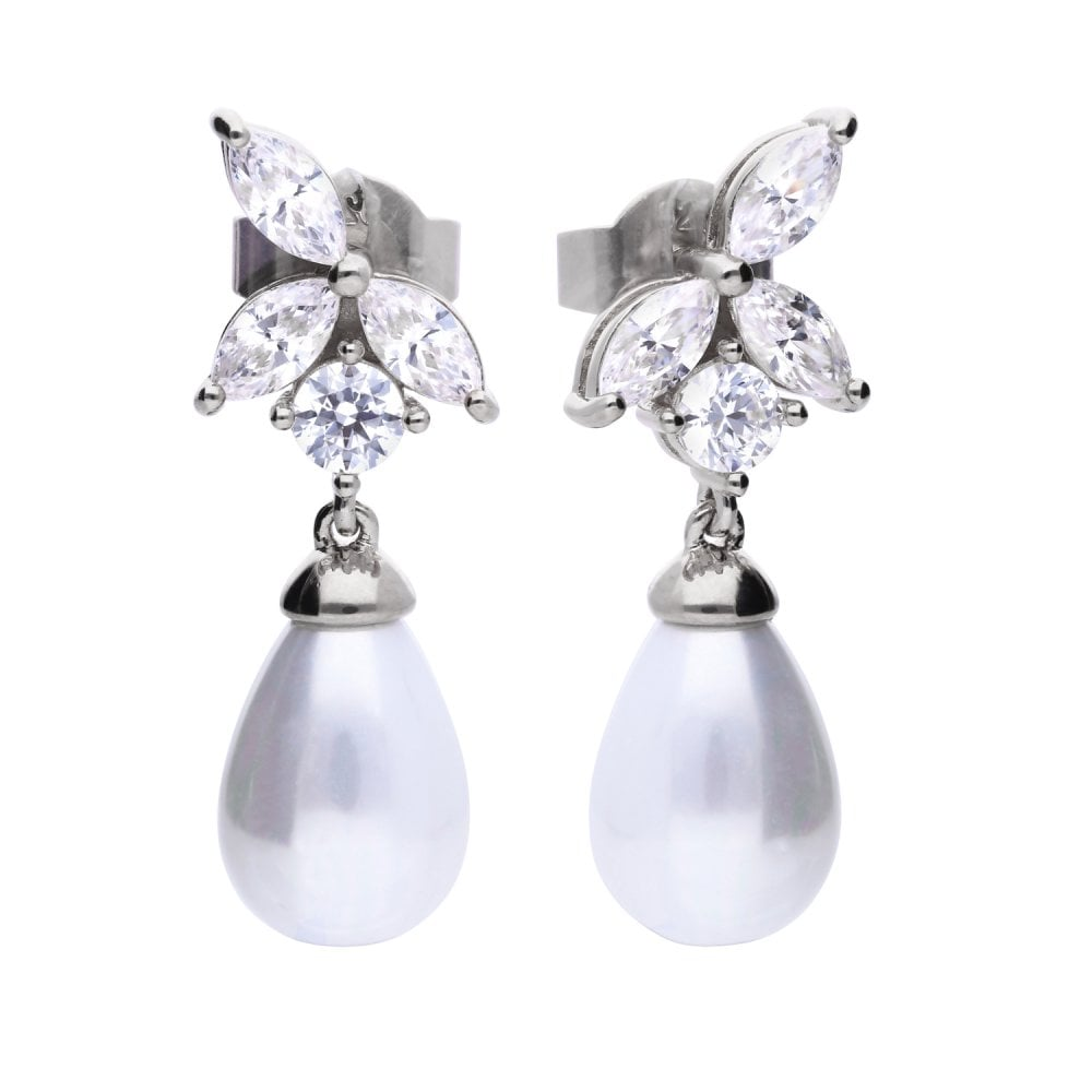 diamonfire-silver-with-pearls-white-zirconia-marquise-drop-earrings-p20976-58783_image